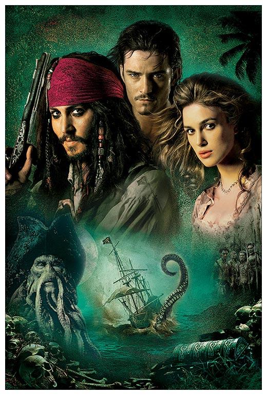 Хардпостер (на твёрдой основе) Pirates of the Caribbean / Пираты карибского моря